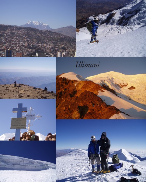 Photocollage of Illimani Bolivia