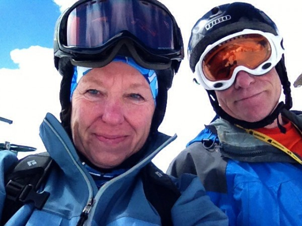 End-of-season-selfie. Susan and Michael