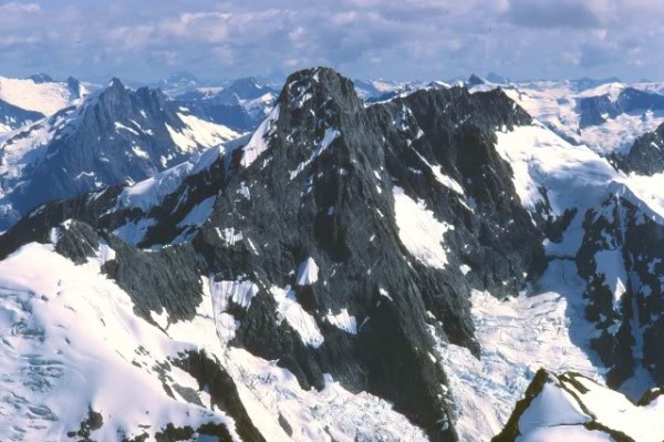 "North Butress of Needle Peak. ""The Stinging Needle"" John Howe and Blak..."