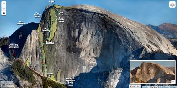 Interactive Half Dome Map