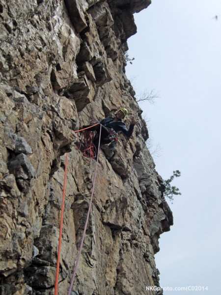 Isa @ the 2nd belay