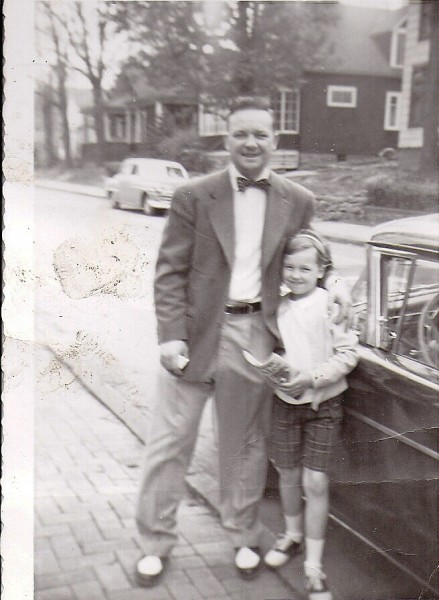 My Dad and I, about 1957', beside his beloved Mercury.
