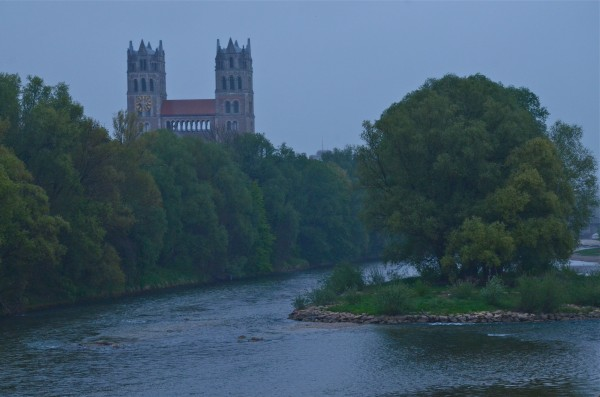 the view down the Isar River from our apartment.  Idyllic.