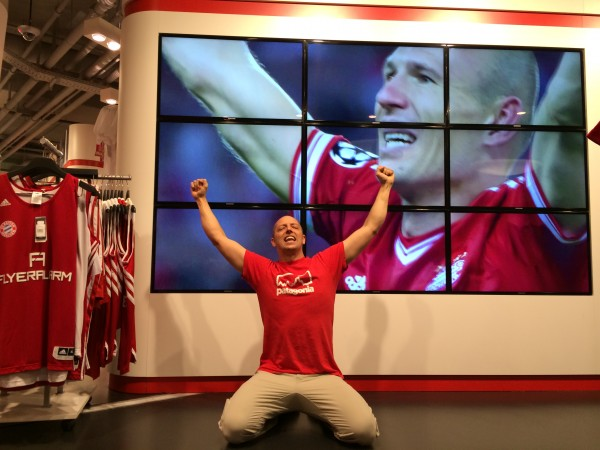 Went to the Bayern Munchen Soccer Superstore.  I don't follow futbol b...