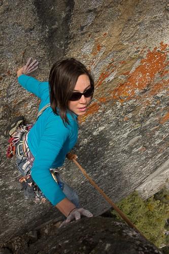 Erin, adventure climbing