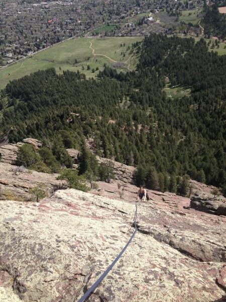 Follow the ridge.