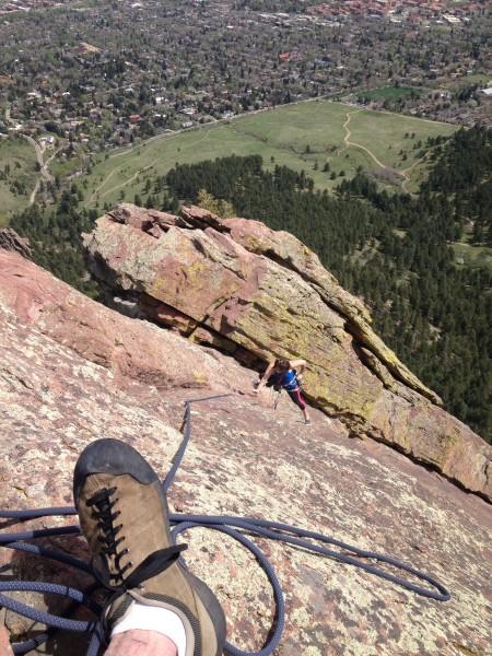High over Boulder.