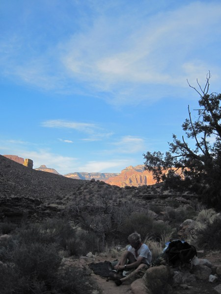 Last Tonto campsite, at Slate Creek.  You can actually follow this can...