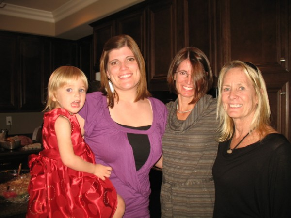 grandie, daughter in law, daughter, mom (that would be me)....blessed