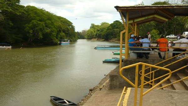 Boat dock at Los Chiles, Costa Rica. The Rio Frio flows north into Nic...