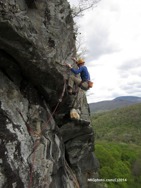 Tyson Miller follows 3rd ascent of Dirty Deeds 10a