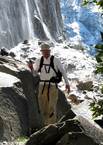 Fearless Rich with ice chunks shedding off El Cap