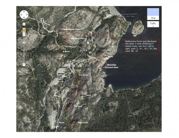 bowman lake overview map.
