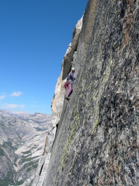 Vibrating across Thank God Ledge