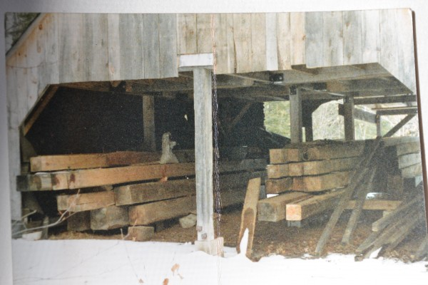 Most of these are 8x8-30 ft. long Oak beams. Lower left are 12x14&quot;. <br/>