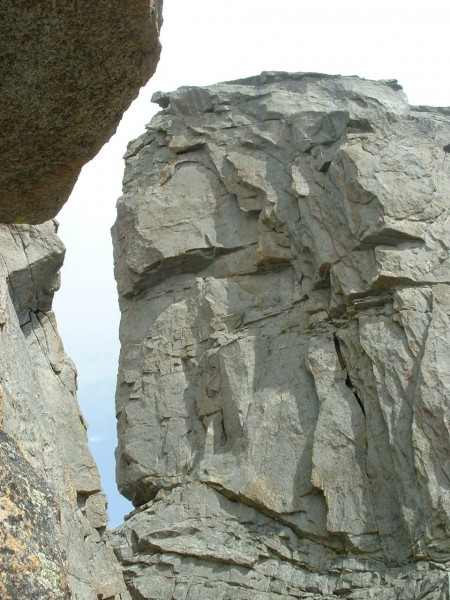 View of the Spire/East Temple Chasm While on SW Arete Route