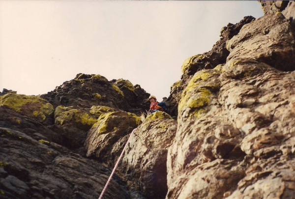 The final summit pitch (5.7x). My brother about the leave the ...