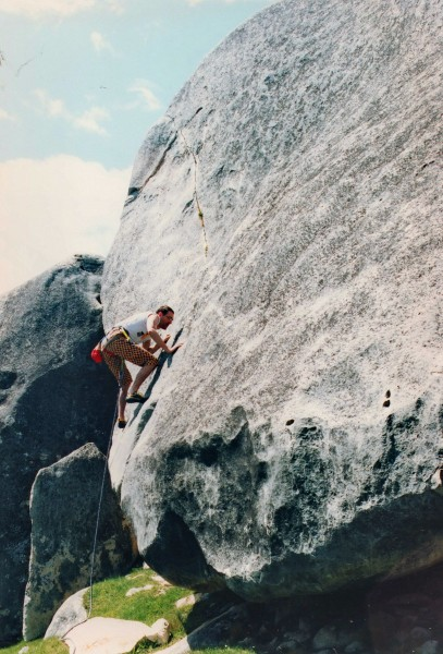 """Usurper"" 21 or 5.11a, Castle Hill. Early 90's."