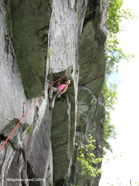 Isa on the 2nd crux