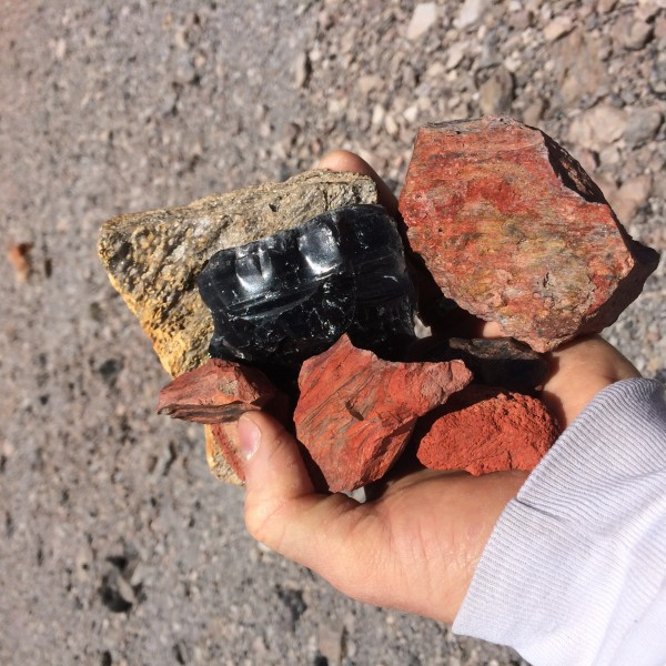Sulphur oxides? And obsidian