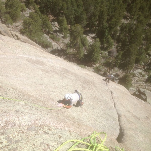 Dave follows the .10a runout traverse.