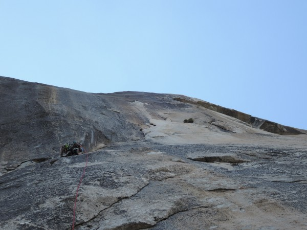 Matt handling the funky p8 to the base of the rurp crack