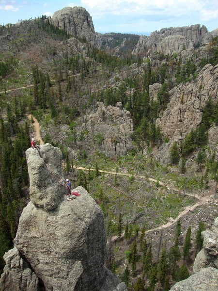 Spire One, cathedral spires, custer state park, south dakota.  Summit ...