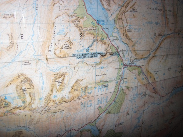 Map in the Ling Hut (the hut is below the mid-point on the bottom ...