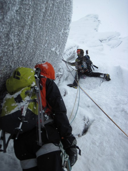 These guys generously shared their belay with us (1/28/14). Yo...