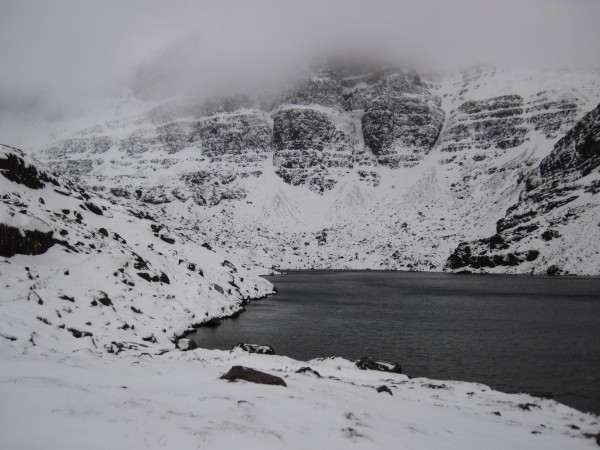 The Triple Buttresses on Coire Mhic Fhearchair on Beinn Eighe - back i...
