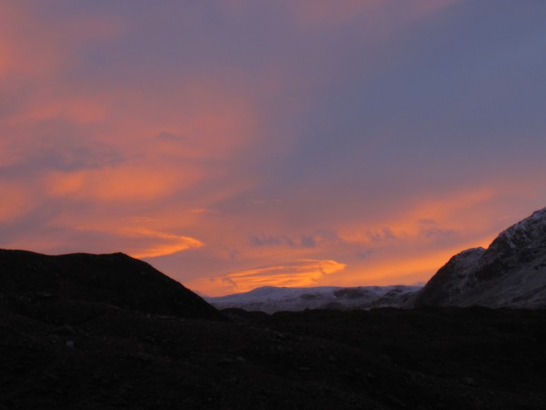 Nice sunrise from the trail on the last day of the BMC International W...