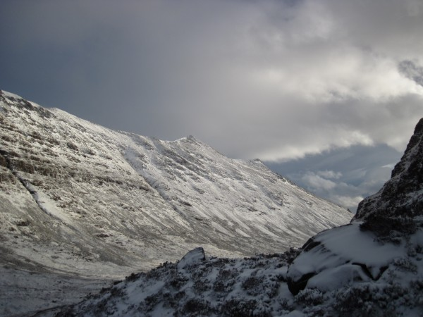 That's the backside (descent side) of Beinn Eighe in the dista...