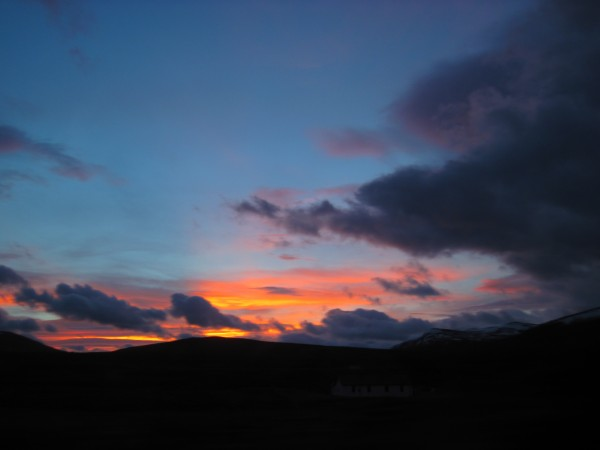 Sunrise on our drive out west to the Cobalt Buttress on Meall Gorm &#4...