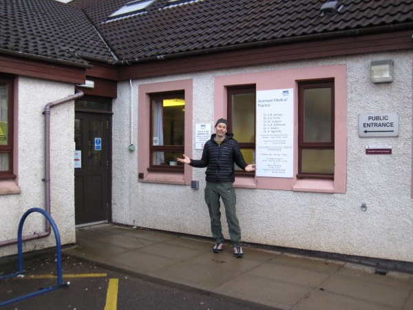 Stopped by the Aviemore Health Center a few miles N of the CCC to get ...