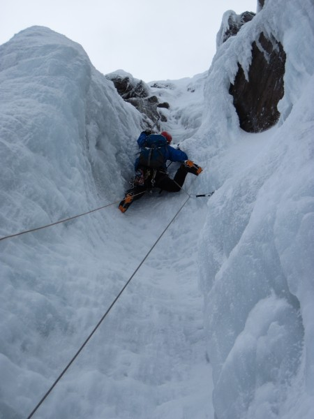 One of the Swedes nearing the top of the steep fun (2/7/14). A...