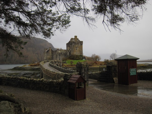 Eilean Doran Castle (2/9/14). Raining pretty heavily, so we dr...