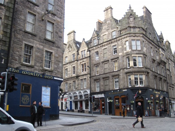 The World's End pub a the edge of the old city of Edinburgh (2/11/...
