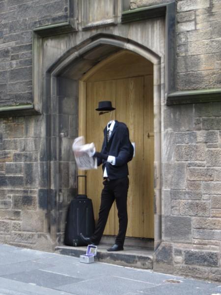 Invisible man sighting (2/14/14).