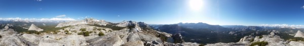 Panorama from Mariuolumne Dome Summit  20140607_174125_152