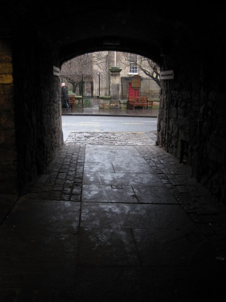 View from one of the many closes (an alleyways) along the main...