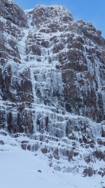 Headless Gully on Coire Dubh Beag on Liathach in the Torridon Estate f...