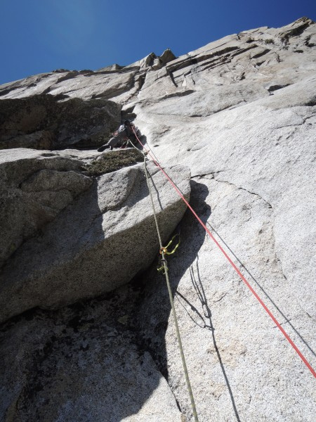 Me onsighting the moderate Pitch 6.