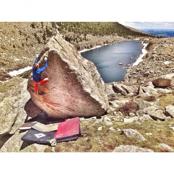 Altieboo warming up at Lincoln Lake, Mt. Evans, CO. Photo by Julie Har...