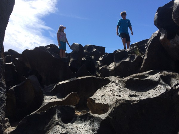 Fossil Falls is good clean family fun.