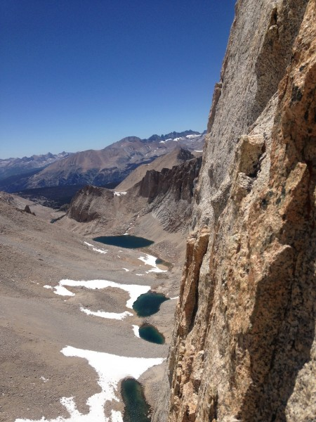 "Looking left at the fourth pitch.  Supertopo ""High Sierra"" guidebook c..."