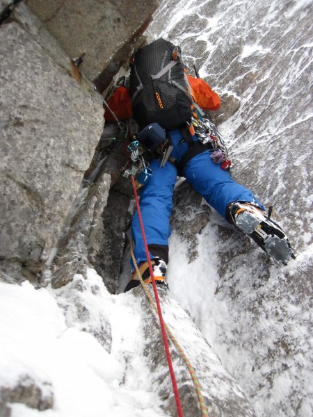 Here's Gwilym Lynn on the West Buttress of Coire Mhic Fhearchair on Be...