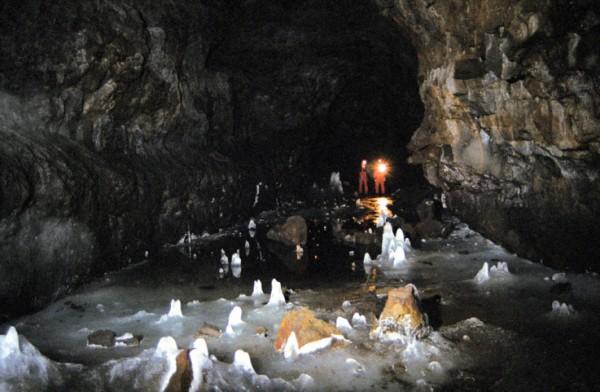 Inside Surtshellir Cave