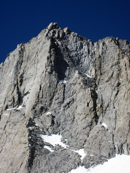 Twilight Pillar and the impressive east face of Norman Clyde Peak
