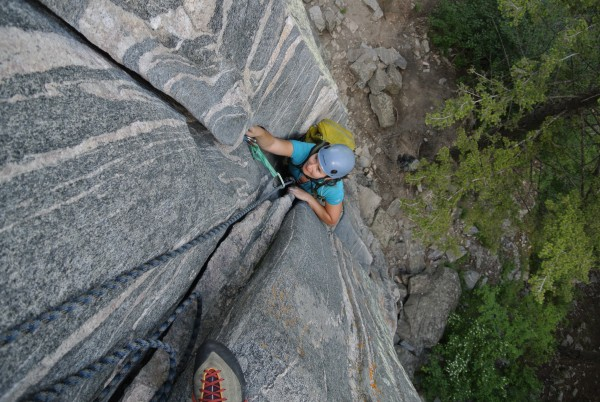 Found some dry rock again!! Gallatin Tower, standard route.. nice gnei...