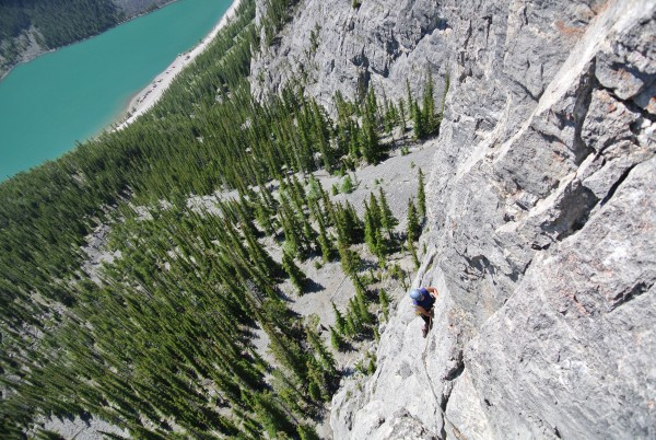 Econoline, East end of Rundle, 5.10a , 8 pitch (newly retro-bolted...